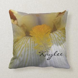 Personalized Iris Photograph Throw Pillow