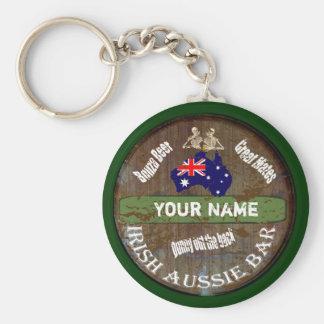Personalized Irish Aussie pub sign Keychain