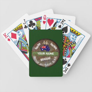 Personalized Irish Aussie  pub sign Bicycle Playing Cards