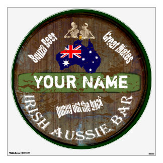 Personalized Irish Aussie pub sign Wall Decals