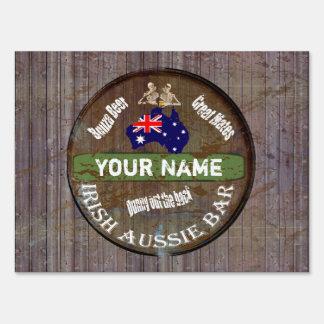 Personalized Irish aussie  pub sign