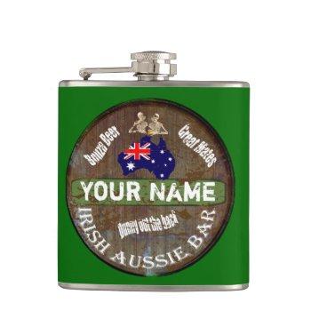 Personalized Irish Australian Pub Sign Flask by Paddy_O_Doors at Zazzle
