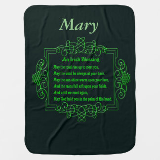 Personalized Irish Blessing Baby Blanket