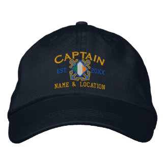 Personalized Irish Captain Nautical Embroidery Embroidered Baseball Cap