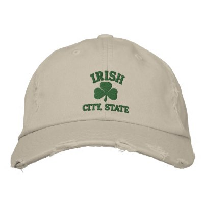 Personalized Irish City State Embroidered Hat Embroidered Hats