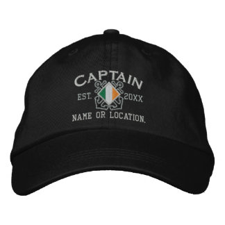 Personalized Irish Flag Anchors Captain Nautical Embroidered Baseball Cap