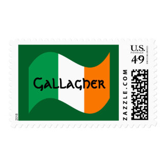 Personalized Irish Flag with Celtic Font Postage