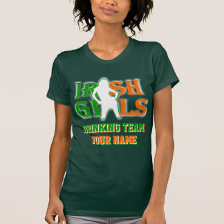 Personalized Irish girls St Patrick's day T-shirt