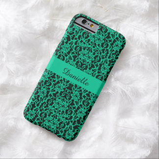 Personalized Irish Kelly Green Lace Barely There iPhone 6 Case