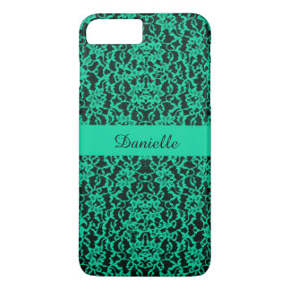 Personalized Irish Kelly Green Lace iPhone 7 Plus Case