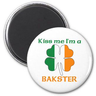 Personalized Irish Kiss Me I'm Bakster 2 Inch Round Magnet