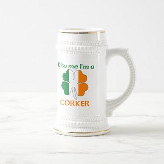 Personalized Irish Kiss Me I'm Corker Mugs