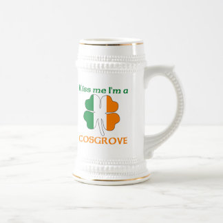 Personalized Irish Kiss Me I'm Cosgrove Beer Stein