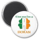 Personalized Irish Kiss Me I'm Doran 2 Inch Round Magnet