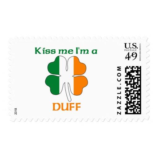 Personalized Irish Kiss Me I'm Duff Stamps