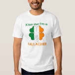Personalized Irish Kiss Me I'm Gallagher T-Shirt