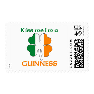 Personalized Irish Kiss Me I'm Guinness Postage Stamps