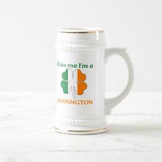 Personalized Irish Kiss Me I'm Harrington Beer Stein