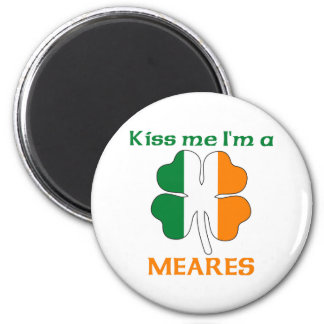 Personalized Irish Kiss Me I'm Meares 2 Inch Round Magnet