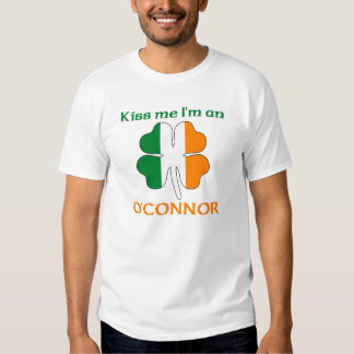 Personalized Irish Kiss Me I'm O'Connor T-shirt