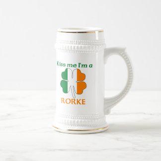 Personalized Irish Kiss Me I'm Rorke Mugs