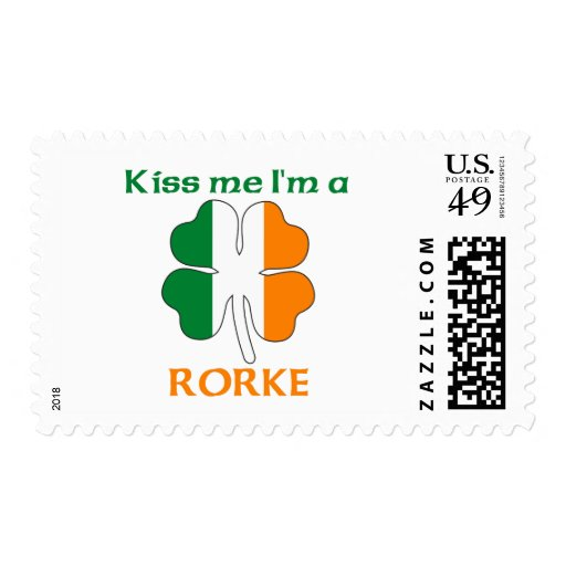 Personalized Irish Kiss Me I'm Rorke Postage Stamps