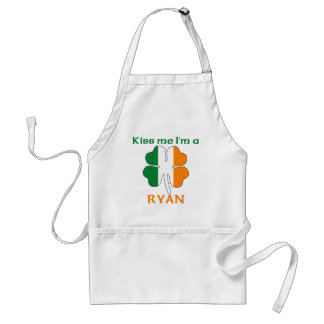 Personalized Irish Kiss Me I'm Ryan Adult Apron