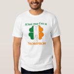 Personalized Irish Kiss Me I'm Thompson T-Shirt