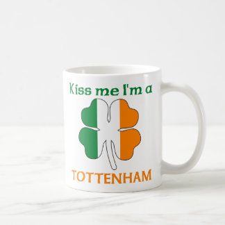 Personalized Irish Kiss Me I'm Tottenham Classic White Coffee Mug