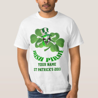 Personalized  Irish pirate St Patrick's day T-Shirt