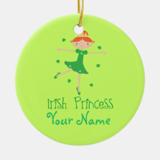 Personalized Irish Princess Ornament Keepsake Gift