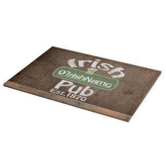 Personalized Irish Pub Old Keg Effect Sign Cutting Board