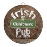Personalized Irish Pub Old Keg Effect Sign Dartboard<br><div class='desc'>Personalized Irish Pub Old Beer Keg Effect Sign (faux wood look.. printed flat) .. ideal for anyone who loves Ireland ..custom products from Ricaso</div>