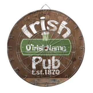 Personalized Irish Pub Old Keg Effect Sign Dartboard