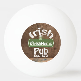 Personalized Irish Pub Old Keg Effect Sign Ping-Pong Ball