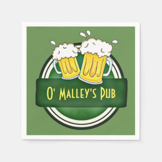 Personalized Irish Pub Paper Napkin