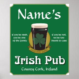 Personalized Irish Pub Print
