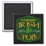 Personalized Irish Pub Sign 2 Inch Square Magnet