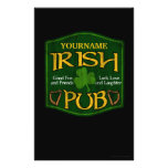 "Personalized Irish Pub Sign 5.5"" X 8.5"" Flyer"