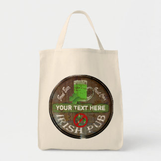 Personalized Irish pub sign Canvas Bag