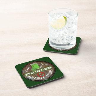 Personalized Irish Pub sign Beverage Coaster