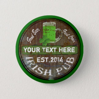 Personalized Irish pub sign Button
