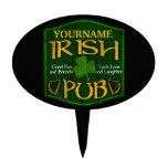 Personalized Irish Pub Sign Cake Picks