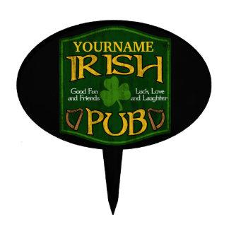 Personalized Irish Pub Sign Cake Topper