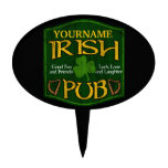 Personalized Irish Pub Sign Cake Toppers