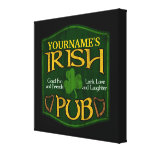 Personalized Irish Pub Sign Stretched Canvas Prints