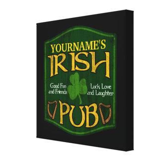 Personalized Irish Pub Sign Canvas Print
