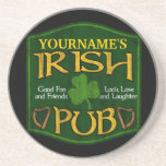 Personalized Irish Pub Sign Drink Coasters
