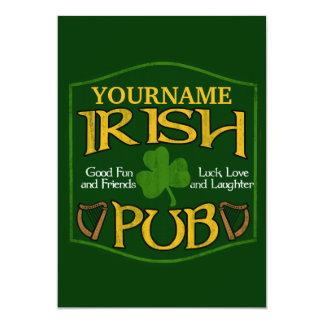 Personalized Irish Pub Sign 5x7 Paper Invitation Card
