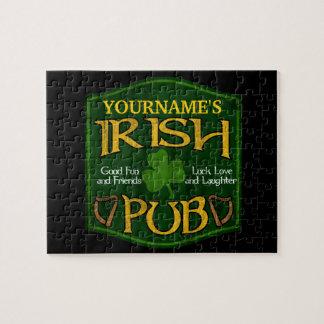 Personalized Irish Pub Sign Jigsaw Puzzle
